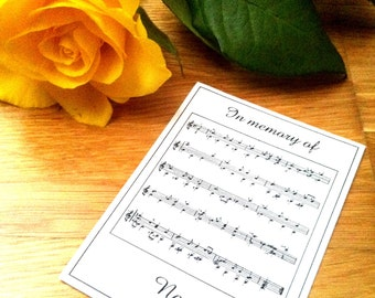 50 Personalized Sheet of Music In Memory Of Ex Libris Bookplates Booklabels