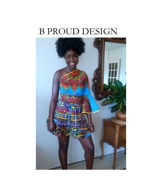 ANKARA MINI WEBSKIRT
