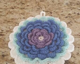 Crochet Flower Pot Holder