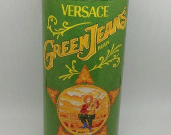Versace Green jeans man EDT tin only vintage