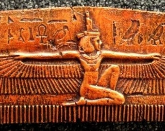 Ancient Egyptian Wall Plaque Winged queen Isis Reproduction