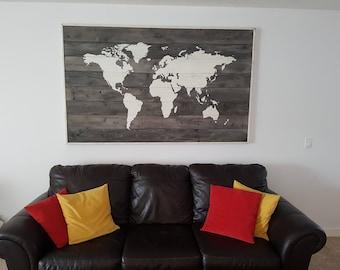 Rustic wood world map, World map, World map wall hanging, World map Handmade, World map wall Decor, World map art, wood art Wallhanging