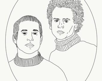Simon & Garfunkel Print