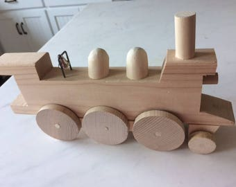 wooden train hand made toy train