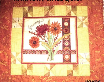 FALL, HARMONY, Fabric PANEL, Wall Quilt, Patchwork, Table Square, Autumn, Home Décor, Holiday Décor, Hostess Gift, Thanksgiving