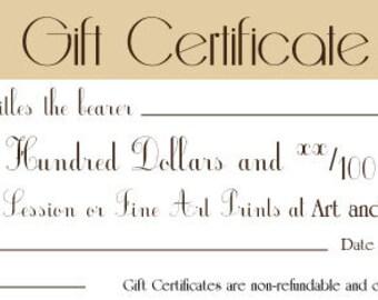 Gift Certificate- Two Hundred Dollars