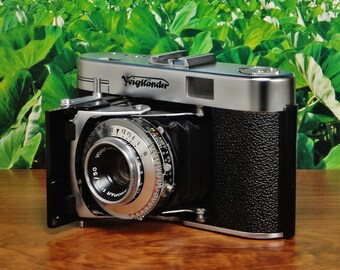 Vintage VOIGTLANDER Vito IIa 35mm Folding Rangefinder Film Camera, Color Skopar 50mm f/3.5 Lens, PRONTOR-SVS Shutter, Circa: 1955, Decent!