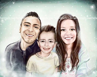 3 people digital portrait