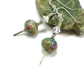 Swarovski Crsytal Earrings For Women | Artistic Glass Bead Earrings For Women | Jewelry Gift For Her | Solana Kai Designs | Portland OR