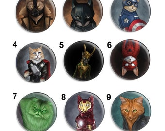 Needle Minder, Cat Needle Keeper, Licensed Art, Jenny Parks, Cross Stitch Keeper, Fridge Magnet, Cross Stitch Accesory, Pin Minder, Cat Art