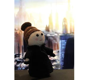 Padme the Star Wars inspired amigurumi, a pretty crochet doll made with cotton yarn.
