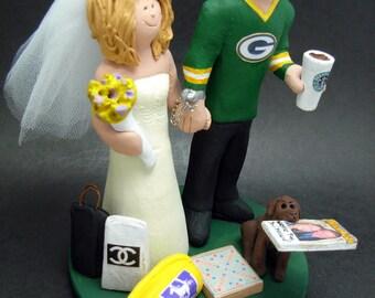 Georgia Bulldogs Football Wedding Cake Topper, Georgia Bulldogs Wedding Anniversary Gift , NFL Football Wedding CakeTopper, NCAA Cake topper