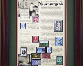 Neurosurgeon 538 - Unique Framed Collectible (A Great Gift Idea) with Personalized Engraved Plate