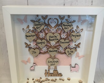 New Baby Tree of Love Frame