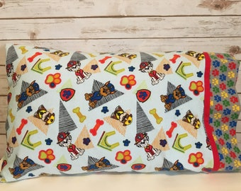 Paw Patrol flannel pillowcase