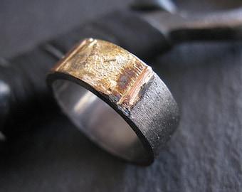 Size 9 1/2 Mens Wedding Band Unique Mens Wedding Band Mens Wedding Ring Rustic Mens Wedding Bands Viking Wedding Ring Artisan Mens Ring