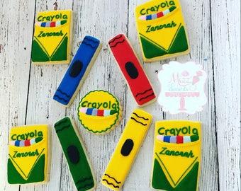 Crayon Party Sugar Cookies