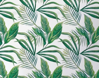 Palm leaves wallpaper, Leaves wallpaper, Home Decor, Tropical decor, BW040