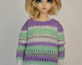 Knitted sweater for Minifee,slim MSD, BJD 1/4.