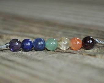 7 Chakra Bracelet, Yoga Bracelet, Meditation Bracelet, Energy Bracelet. Rainbow Bracelet, Crystal Therapy, Gemstone Therapy, Stack Bracelet