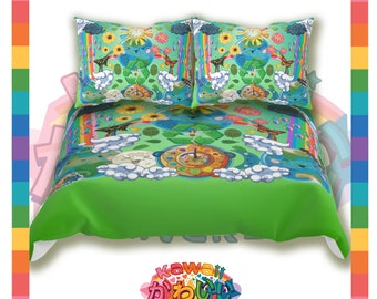 Kawaii Universe - Cute World Peace Showers Designer Bed Spread