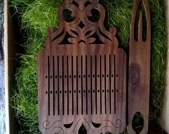 Scandinavian tape loom, rigid heddle, tape loom box