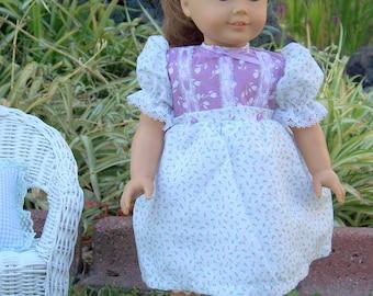Mini Blossoms Doll dress fits 18 inch doll, Handmade Doll Dress