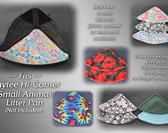 Fleece Corner Litter Box (Pan) Liners / Pads (Sold in Sets of 2)