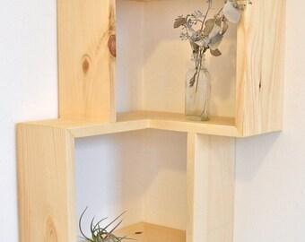 Double Corner Box Shelf