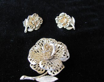 Lisner Pin and earrings