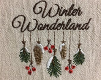 Winter Wonderland tea towel