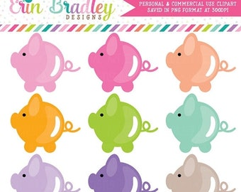 80% OFF SALE Pig Clipart Set Clip Art Graphics Personal & Commercial Use Animals