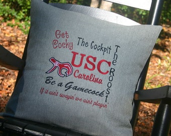 University of South Carolina throw pillow