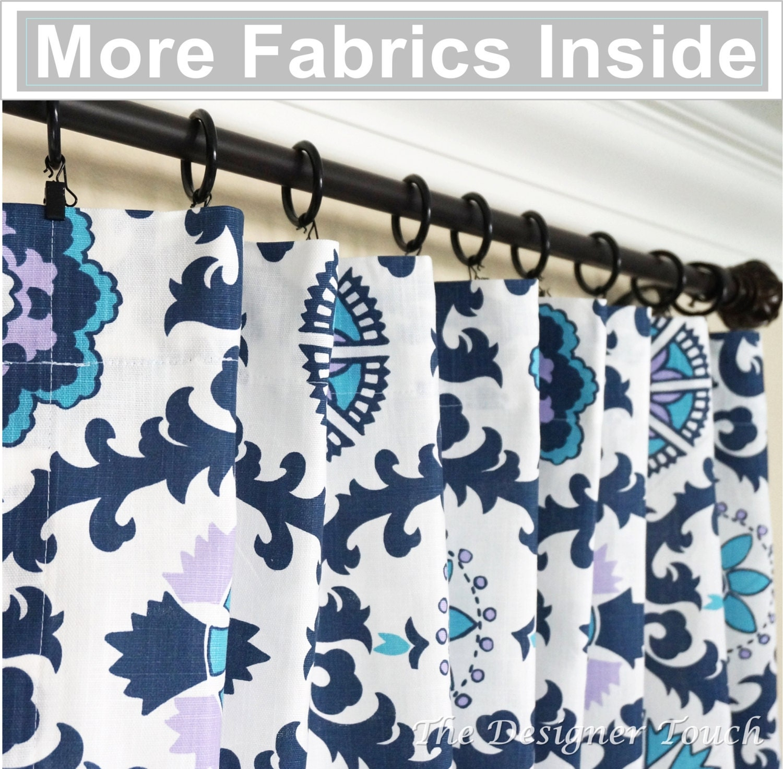 TWO Navy Blue Curtain Panels.Aqua Purple Curtain.Lavender