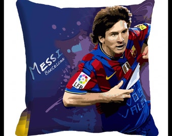 PAIR or MIX MATCH from listing - Messi / barcelona cushion cover - digital print
