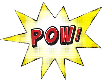 Superhero POW! Sign
