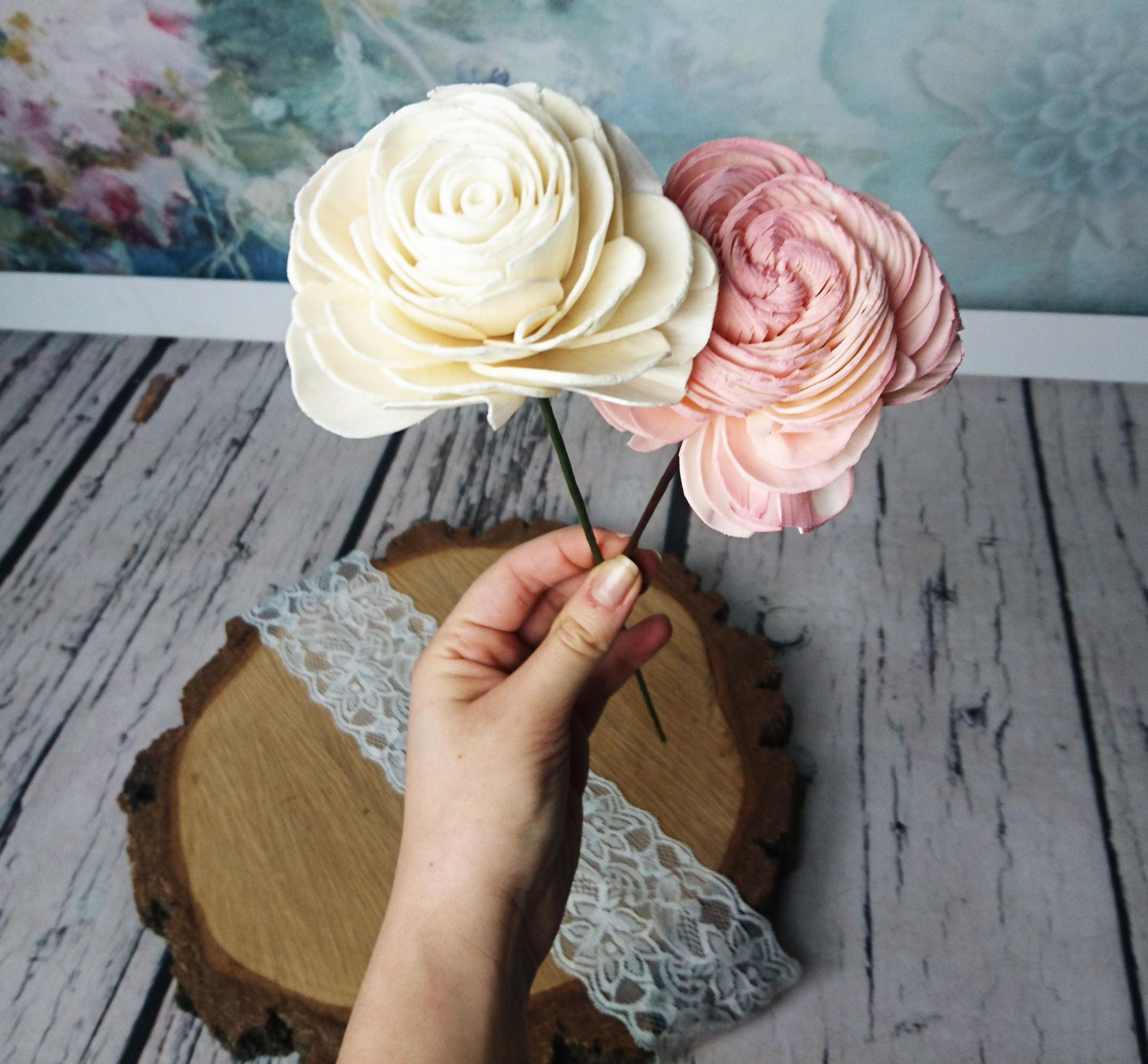 Floral wire paper covered stems for sola flowers diy wedding bouquet gallery photo gallery photo izmirmasajfo