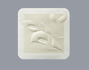 Embossed Calla Lily Wedding Stickers Envelope Seals (Pack of 25)
