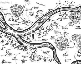Fantasy map of Pittsburgh