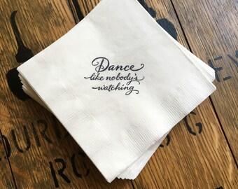 Wedding or Birthday Beverage / Cocktail napkins /  Set of 50