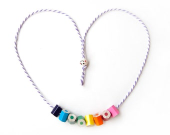 MakeForGood - necklace - teacher gift - handcrafted from colored pencils - lupidupi