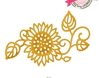 "Die cut metal flower sunflower ""Sunflower"" Cottage Cutz die"