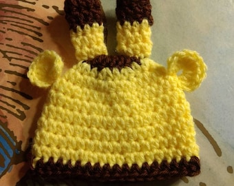 NICU Micro Preemie Giraffe Hat, sizes 1 to 2 pounds, 2 to 3 lb, and 3 to 4 lb