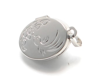 Tiny Silver medallion of 925 sterling silver with Swallow