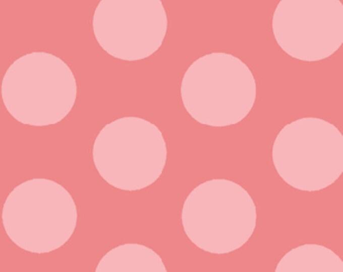 """32"""" REMNANT Curiosities - Cookie Dots in Lollipop Pink  - Little Girl Fabric Line Designed by Nancy Halvorsen for Benartex (W917)"""