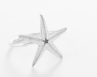 Silver Starfish Ring- Nautical Jewellery-Beach Jewellery-Coastal Jewellery-Gifts for her-Star Jewellery-Summer Style