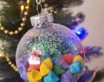 Rainbow Lucky Stars Ornament