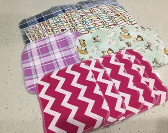 Imperfect, double layer, flannel wipes