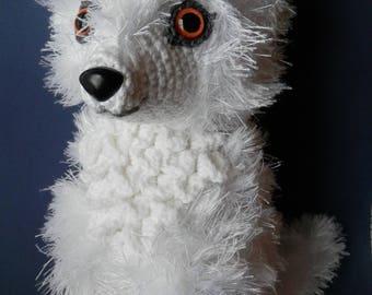 White Wolf Crochet Amigurumi