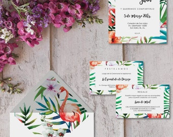 Printable invitations for marriages-model AREZZO